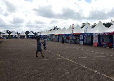 pagola tents at a trade expo